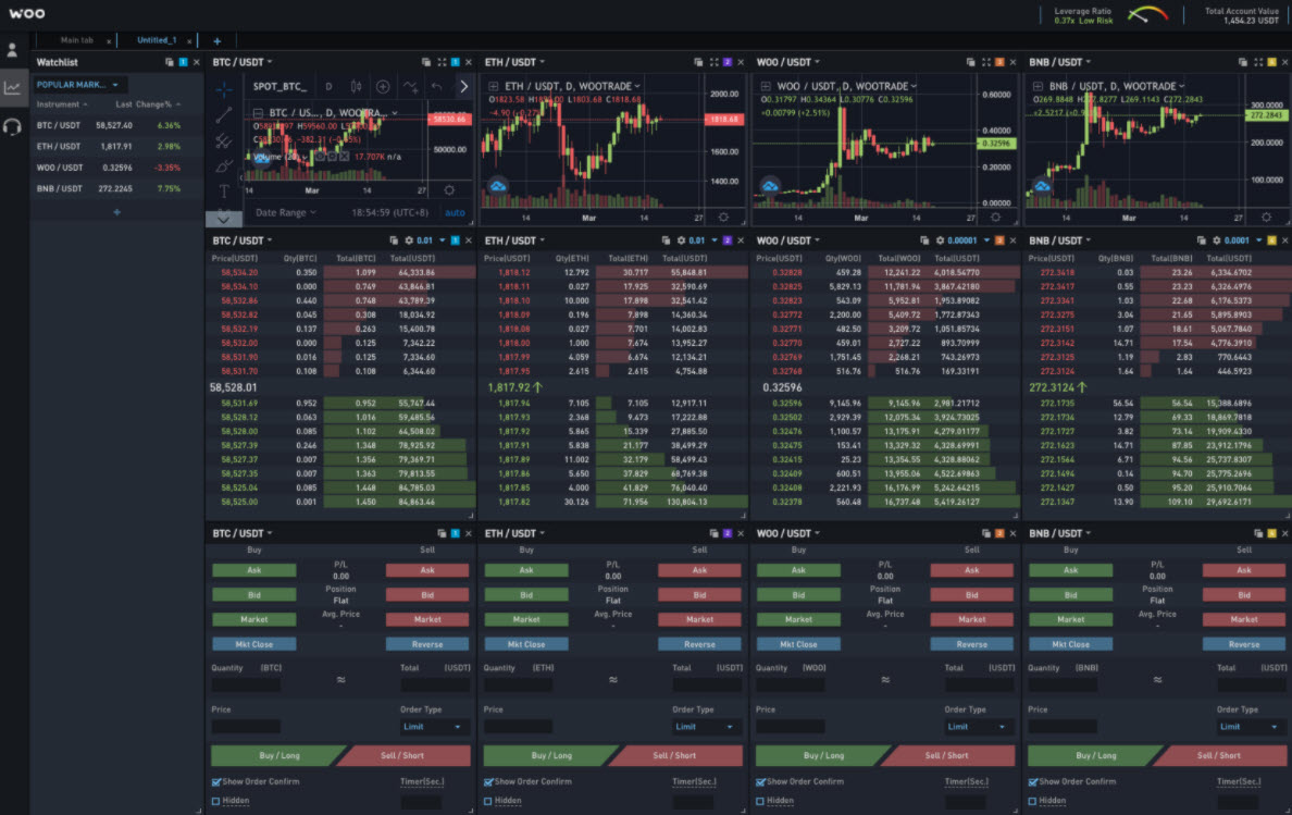 Woo X - Trading platform