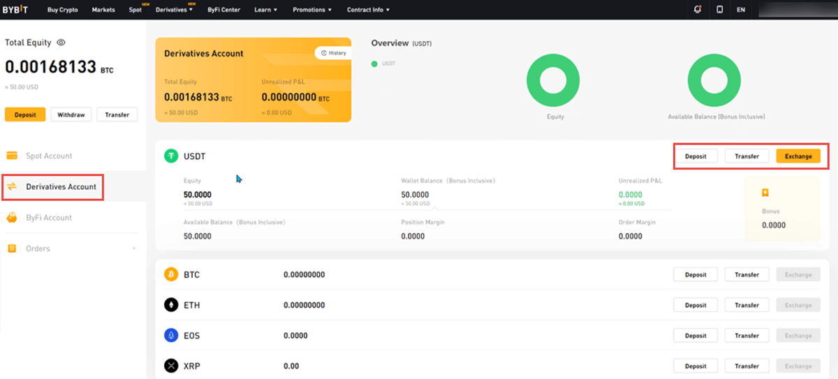 1. ByBit - Deposit Funds