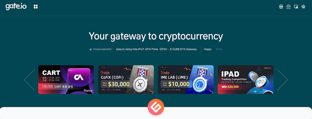 Gate.io Crypto Exchange