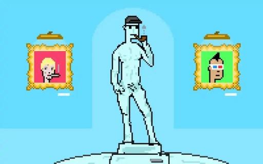 CryptoPunk digital statue