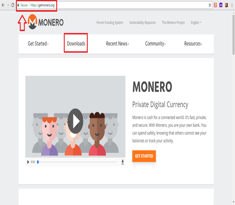Monero website