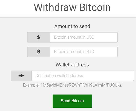 withdraw bitcoin details