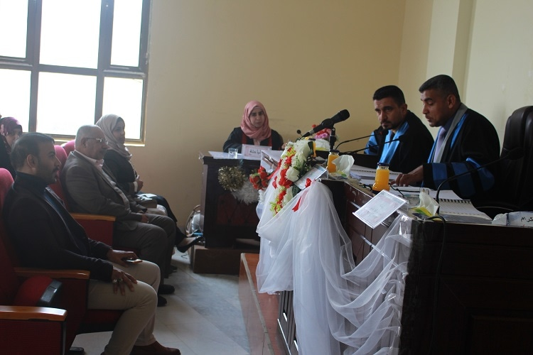 مناقشة رسالة ماجستير حول الاثر القرآني في ديوان حروب الردة