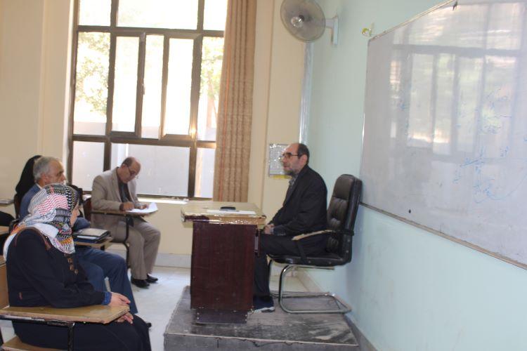 كلية العلوم الاسلامية تستضيف باحث من الجمهورية الاسلامية ايران