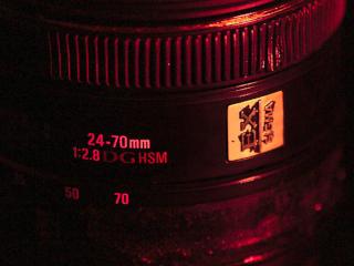 visão parcial da lente Sigma 24-70mm IF EX DG HSM