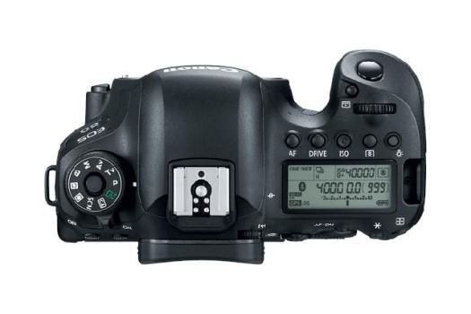 Visão do topo da câmera Canon EOS 6D Mark II