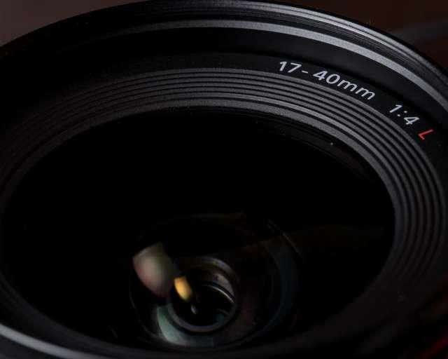 Canon EF 17-40mm f/4 L.