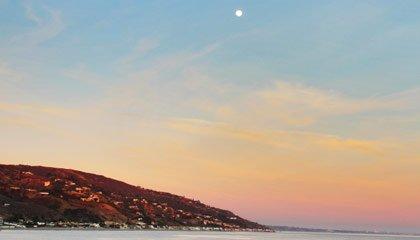Por do sol em Malibu - Capa