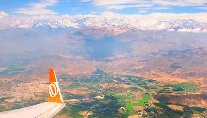 Vista da nossa janelinha no voo para Santiago - Capa