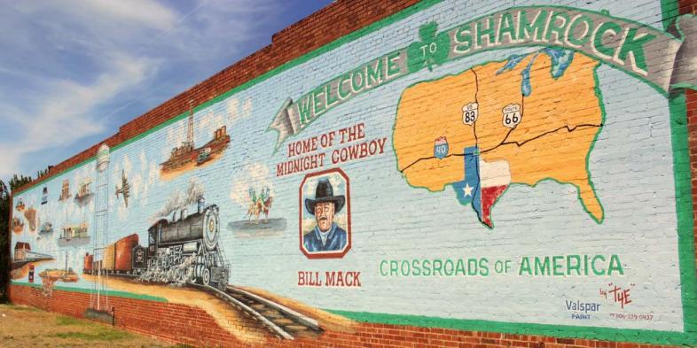 Shamrock foi nossa primeira parada no Texas durante nosso trajeto na Rota 66