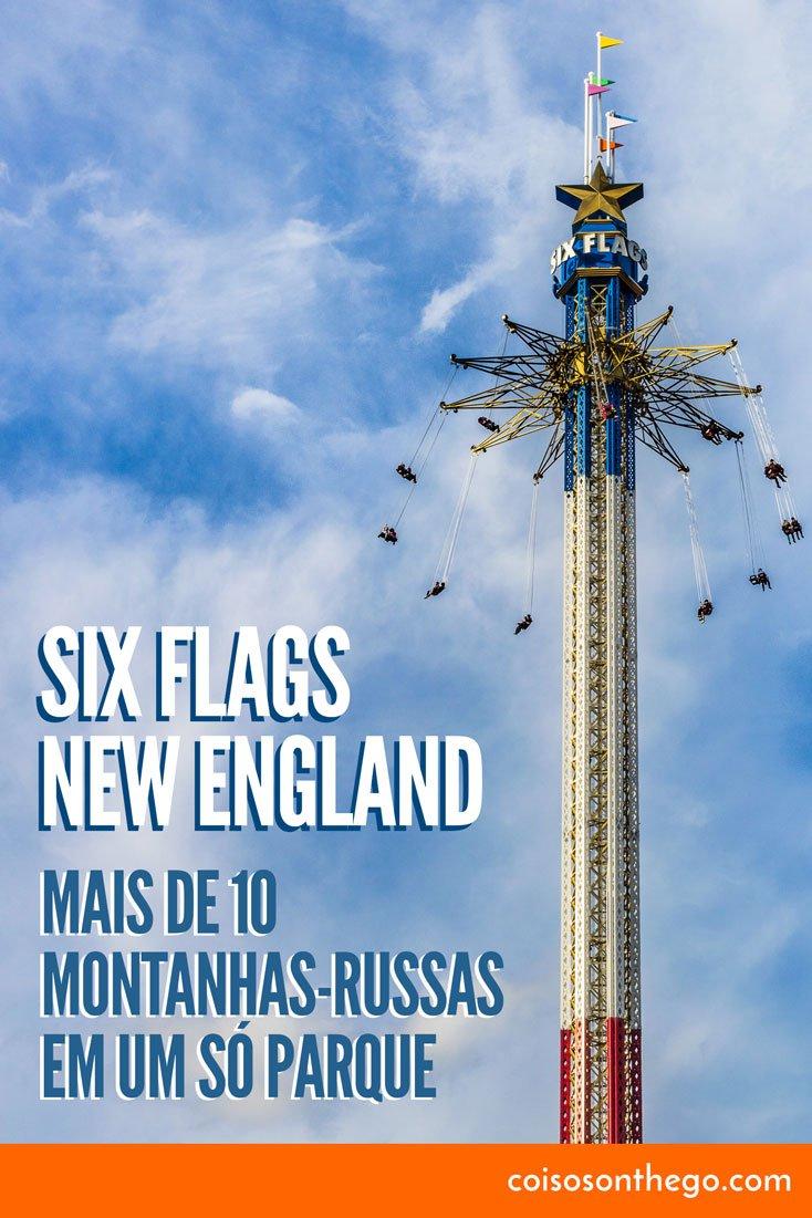 Six Flags New England - Mais de 10 montanhas-russas em um só parque
