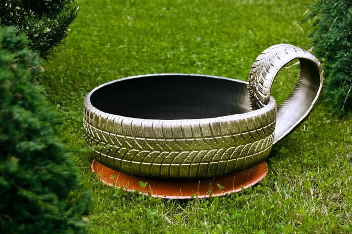 Up-Cycled Tire Hose Pot