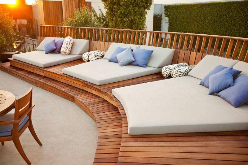 Cojín exterior / cama de jardín. Colchoneta tela ACRILICO ... on Belham Living Lilianna Outdoor Daybed id=73432