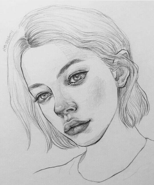 Nose Tumblr Drawing Girl