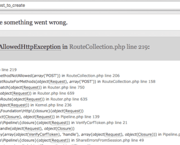 laravel-MethodNotAllowedHttpException