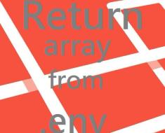 return-array-from-dotenv