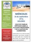Ciclo de charlas VIRTUALES sobre la Actividad Profesional y de la Justicia en cuarentena