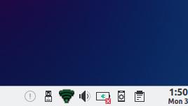 Icono red PCLinuxOS