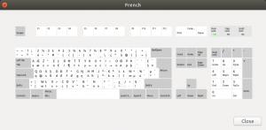 Distribución de teclado en francés AZERTY