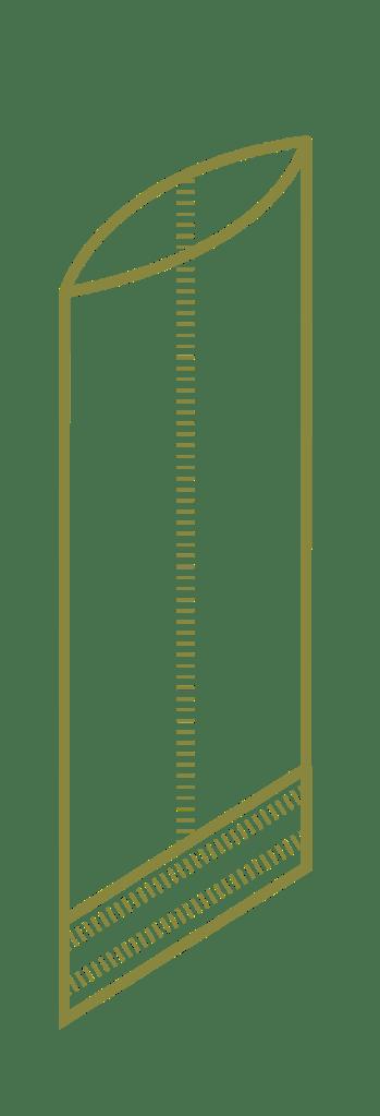 Vlakke zak gecoat