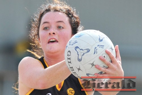 Colac Tigers youngster Kaitlyn Hammond, pictured, will step up in the absence of shooter Bec Scott and Zoe Donne.