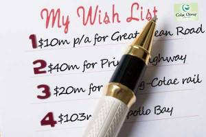 Colac Otway Shire Council has updated its wishlist ahead of the federal election.