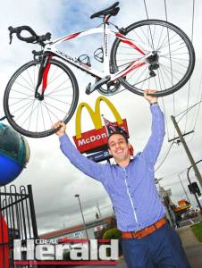 Anthony Nigro will ride 500 kilometres to raise money for Ronald McDonald House Charities.