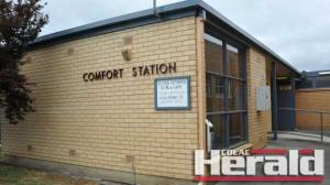A resident made an alarming discovery at a public toilet in Colac.