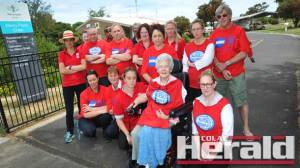 Mercy Place Colac workers went on strike yesterday to push for pay parity with other aged care facilities.