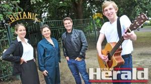Gemma Steenholdt, Gemma Upson-McPike, James Thwaites and Ryan Quinn from Red Door Theatre, will perform a preview of  their next show All Shook Up at this year's Australia Day celebrations. The celebrations will be at the historic Colac Botanic Gardens.