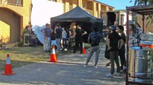 A Chinese film crew, including Australian staff, set up at Colac Mid City Motor Inn at the weekend to film scenes for Mountains May Depart. PICTURE: TREVOR SLUGGETT