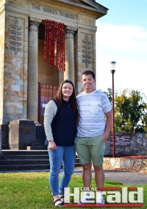 Amy McKenzie and Aidan Robertson will share a memorable experience after gaining a ballot place at the Anzac Day commemorations at Gallipoli on April 25.