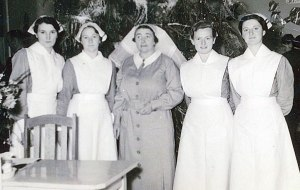 Nurses at Colac Hospital who treated Alf Minchinton, names unknown.
