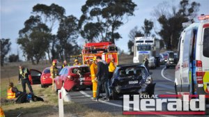 Police and emergency service teams attended a three-car pile up at the Conns Lane turnoff on the Princes Highway earlier this week. The three drivers and a passenger escaped serious injury after the smash but the section of highway has developed a notorious reputation for road crashes.