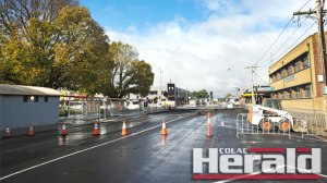 VicRoads contractor Fulton Hogan closed sections of Gellibrand Street this week for road work which upset Colac business owners.
