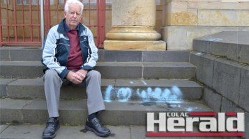 """Colac RSL President Brian Lloyd says a graffiti attack on the front steps and rear of the Colac War Memorial is """"very disappointing""""."""
