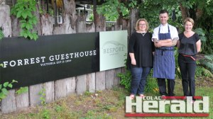 Otway Fields' Ami Hillege and Bespoke Harvest's Simon Stewart and Emma Ashton are among 49 Otway Harvest Trail members inviting people to a Gourmet Cinema Event to support Colac region food producers and food-based tourism business.