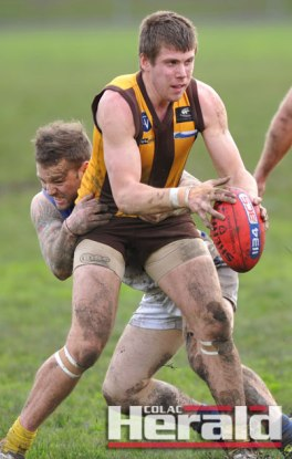 Former Geelong Falcon Josh Cooper is among six players who have joined Apollo Bay for the 2016 Colac district football season.