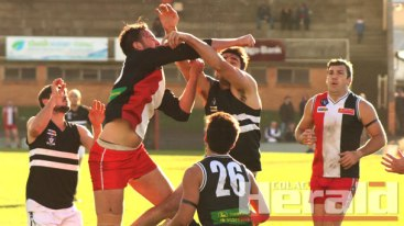 Football ladder leader Birregurra has shown promising signs in a pre-finals outing at Colac's Central Reserve, cruising to victory against Lorne after a dominant second half.