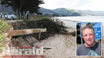 ACTION: Concerns about the erosion on the Apollo Bay coastline have sparked calls from community members for authorities to take more action and plan for the future.