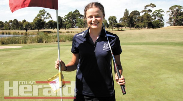 Rising star's bond with her golfing idol