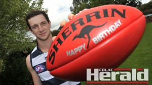 Colac footballer Darcy Lang celebrated his 18th birthday on the same day that Geelong selected him with  pick 16 in the AFL national draft.