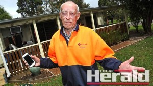Gellibrand resident Allan Ryan bought his cabin two weeks ago and has discovered his mobile phone can't pick up signals in the area.