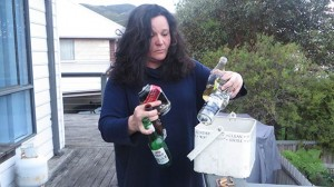Apollo Bay's Annabel Tellis Tunley is still finding evidence of wild parties at her home while she was away last weekend.