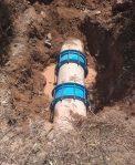 Atiende OOMSAPAS Los Cabos fuga de agua en el acueducto I
