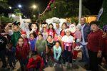 Con el encendido del Árbol y el corte de listón del Bazar Navideño, dan inicio las fiestas decembrinas en Miraflores