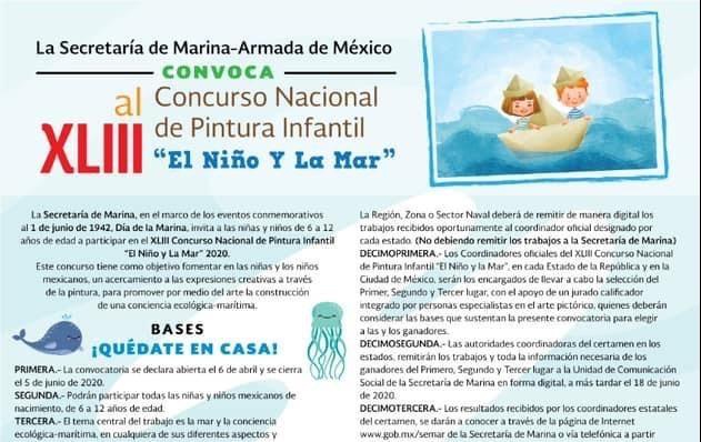 CELEBRARÁN DE MANERA VIRTUAL LA EDICIÓN 43 DEL CONCURSO EL NIÑO Y LA MAR 2020