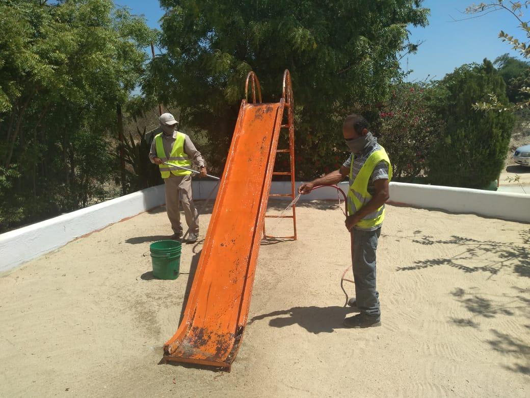 Servicios Públicos inicia la Sanitización de Parques en Los Cabos