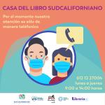 CASA DEL LIBRO SUDCALIFORNIANO PONE A DISPOSICIÓN  SUS SERVICIOS VÍA TELEFÓNICA