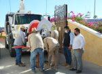 Entrega Oomsapas Los Cabos camión vactor a API para eliminar derrames de aguas negras en La Marina de CSL